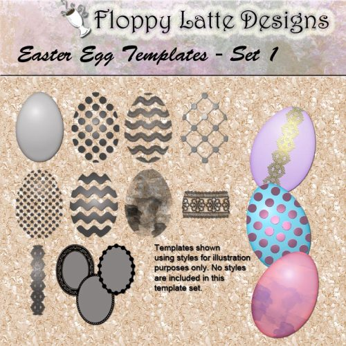 Easter Egg Templates by Floppy Latte Designs