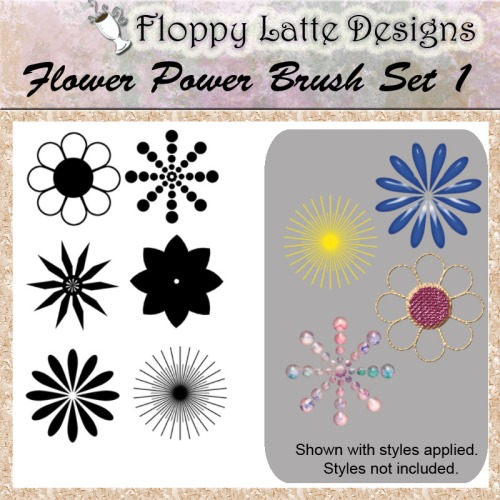 Flower Power Brush Set 1