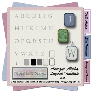 Antique Alpha Template Set - JPG and PNG versions
