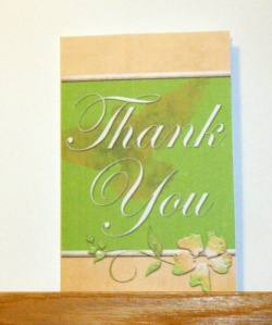Printed Thank you Card